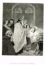 "Ladies Repository - ""PREACHING OF JOHN, THE BAPTIST"" Steel Engraving - c1850"