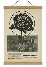 """Grateful Dead """"American Beauty"""" Promo / Original ad, Mounted w/Magnetic Frame!"""