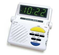 Sonic Boom Loud Alarm Clock w/ Lamp Outlet for Deaf