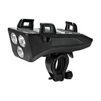 4 In 1 Porta Telefono Per Torcia Elettrica Per Bicicletta 3 LED Accessori