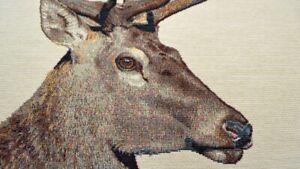 Panel Hirsch Hirschstoff Gobelin Hirsch Stoff für Kissen Hirsche Schwarzwald
