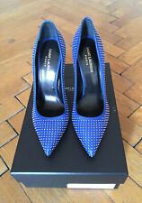 YVES SAINT LAURENT PARIS 105 STUDDED POINTED-TOE PUMP - NEW!
