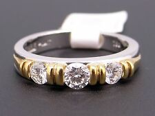 26ced4061 New Scott Kay Platinum 18k Gold .50ct Round Diamond Wedding Band Ring B0822