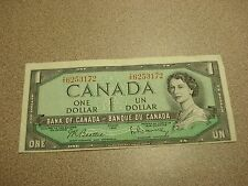 1954 - Canada $1 bill - circulated - Canadian dollar - TY6253172