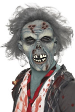 Decaying Zombie Mask, Grey, Overhead, Latex (US IMPORT) COST-ACC NEW
