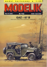 GAZ-67B 4x4 truck 1:25 paper model kit 13cm long