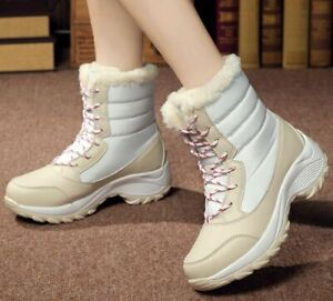 Women's winter warm snow boots ankle shoes outdoor walk shoes Casual