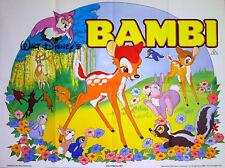 BAMBI 1942 Walt Disney David Hand Animation UK QUAD POSTER