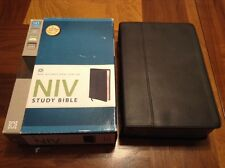 NIV Study Bible - $149.99 Retail - Black Premium Genuine  Leather - Zondervan
