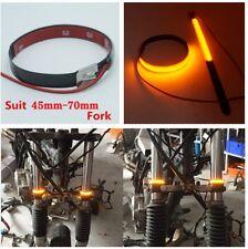 1Pair Fork Light Strips Wrap-around LED Turn Signal Light for Motorcycle Bike