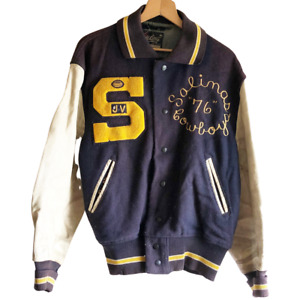 1976 Vintage Salinas High School Varsity Letterman Jacket GO COWBOYS Football CA