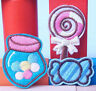 FD812 Embroidered Cloth Iron On Patch Sew Motif Applique Lollipops Candy ~3pcs~