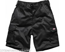 "Size 30"" W Dickies WD834 BLACK Redhawk Mens Work Shorts Trousers Cargo Pockets"