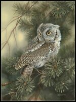 Charts Needlework DIY - Counted Cross Stitch Patterns - Screech Owl