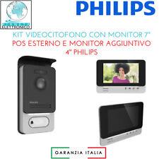 KIT VIDEOCITOFONO CON MONITOR 7'' POS ESTERNO E MONITOR AGGIUNTIVO 4'' PHILIPS