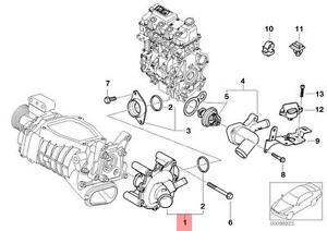 Genuine BMW MINI R52 R53 Cabrio Coupe Water Pump OEM 11511490591