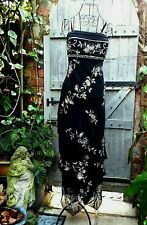 Vintage MISS NEW YORK Black Ankle Length Cocktail Dress w/Heavy Beadwork  SZ 16