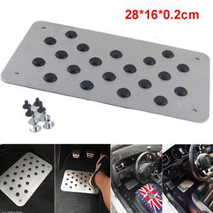 Car Antiskid Floor Carpet Aluminium Sheet Pedal 0.2cm Thin Foot Pad Silver Mat