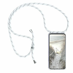 For Huawei Honor 20 Pro Case With Chain Band Phone Rope Case To Sling On White