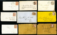 US Collection of 19 Early Unsearched Stamp Covers