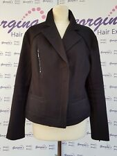 Marks and Spencer Autograph Black Biker Style Jacket 14