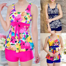 Polyester Scoop Neck Floral Swimdress for Women