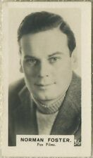 Norman Foster 1934 Bridgewater Film Stars Small Trading Card - Series 3 #36