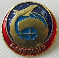 Baikonur Cosmodrome Buran Soviet Space Shuttle Russian Brass Pin Badge 3cm