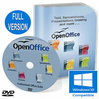 OPEN OFFICE PRO FULL OFFICE SUITE 2020 for Microsoft 7, 8, 8.1,10 Windows DVD