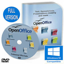 OPEN OFFICE FULL OFFICE SUITE for Microsoft Windows DVD Professional Edition