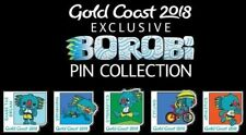 Gold Coast 2018 Commonwealth Games Exclusive Borobi Pin Collection 5 Piece Set
