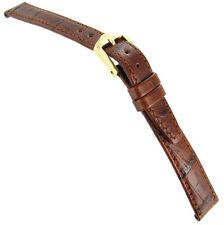 14mm Hirsch Duke Alligator Grain Tan Brown Genuine Leather Ladies Watch Band