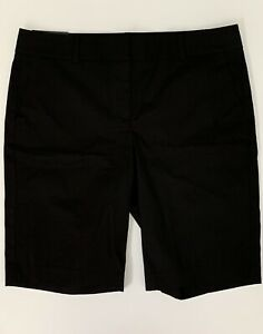 NWT ANN TAYLOR Black The Boardwalk Shorts Mid Rise Bermuda Women Size 12