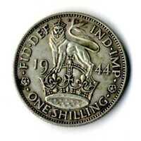 Moneda Gran Bretaña 1944 one shilling George VI Scottish plata .500 silver coin