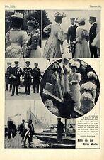 Bilder von der Kieler Woche 1907 Der Kaiser japanischer Vizeadmiral Ijuin Pri...