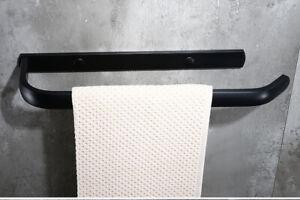 Handtuchhalter Handtuchreling Handtuchstange Bad Wandmontage Tuchhalter Schwarz