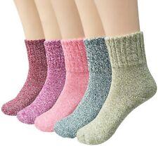 5 Pairs Women Wool Socks Winter Comfortable Warm Socks Set Multicolor