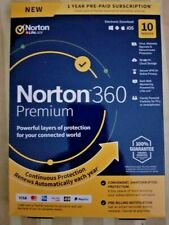 Norton 360 Premium 10 Devices 1 Year Android|Mac|Win|iOS  VPN,75GB Cloud Backup