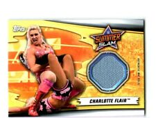 WWE Charlotte Flair 2019 Topps SummerSlam Event Used Mat Relic Card