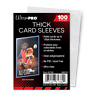 (100) Ultra Pro Thick Trading Card Sleeves (1 Pack) For Thick Jerseys or Patches