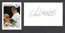 Charlie Mitchell ( Debut 1984 )  CIN BOST  SIGNED AUTOGRAPH AUTO 3x5 INDEX COA