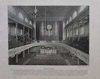 1896 LONDON PRINT + TEXT THE CITY TEMPLE