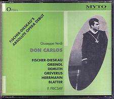 VERDI: DON CARLOS Fischer-Dieskau Greindl FRICSAY Carlo MYTO 3CD 1948 Berlin