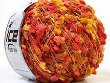 ICE YARNS TRAWL POMPOM 1 skein yellow salmon brown 50gr microfiber 26408 crochet
