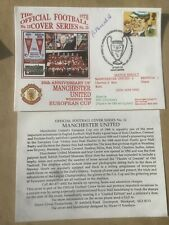 More details for manchester united v benfica first day cover 1993 signed by pat crerand