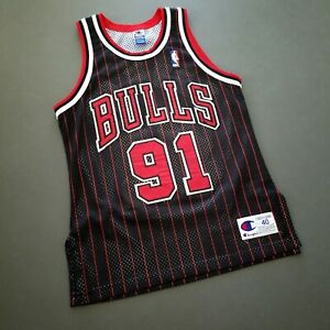 100% Authentic Dennis Rodman Vintage Champion Bulls Jersey Size 40 M S Mens