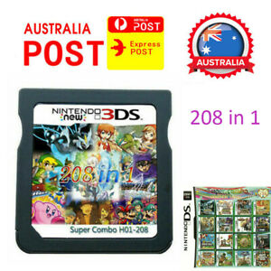 208 in 1 Game Card Cartridge Multicart for Nintendo DS NDS NDSL NDSi 2DS 3DS