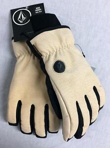 Volcom Men's Rockaway Snowboard Winter Glove Grain Black Size Adult Medium NEW