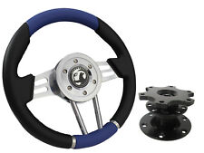 QUICK RELEASE BLUE V2 SPORTS STEERING WHEEL 310mm - VAUXHALL