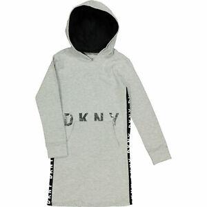 DKNY Girl's Logo Hooded Dress  Sz: yr7,